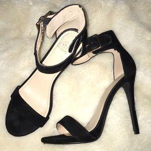 Diva Black Strap High Heels